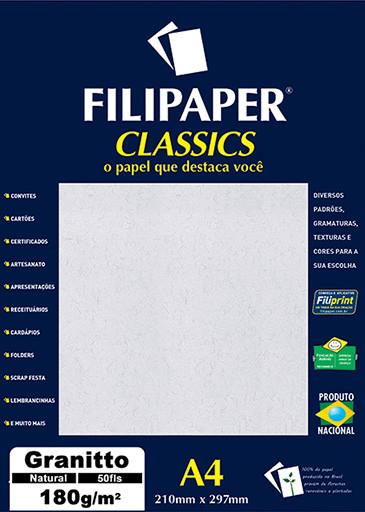 Filipaper Granitto 180g/m² (50 folhas; natural) A4 - FP00989