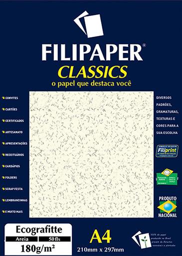 Filipaper Ecograffite 180g/m² (50 folhas; areia) A4 - FRETE GRÁTIS - FP01011