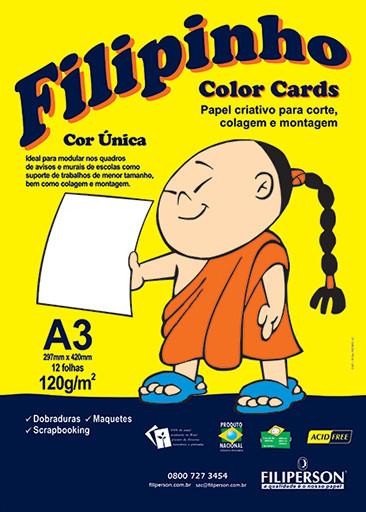 Filipinho Color Cards / Cor Única (branco) A3 - FP03781