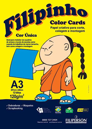 Filipinho Color Cards / Cor Única (azul) A3 - FP03780