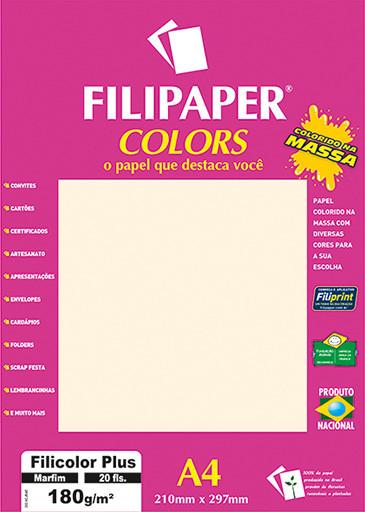 Filipaper COLORS Marfim 180g/m² A4 20fls - FP02393