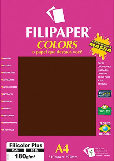 Filipaper COLORS Café 180g/m² A4 20fls - FP02398