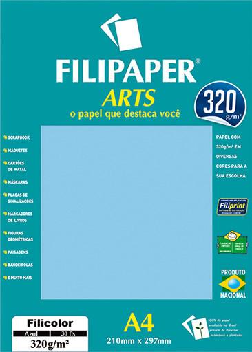 FIlipaper ARTS 320 g/m² (30 folhas; Azul Claro) A4 - FP02592