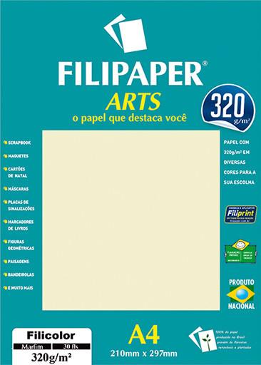 FIlipaper ARTS 320 g/m² (30 folhas; Marfim) A4 - FRETE GRÁTIS - FP02593