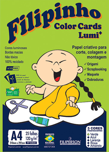 Filipinho Color Cards LUMI 5 cores A4 - FP02303