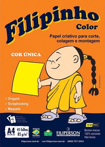 Filipinho Color / Cor Única (amarelo) A4 - FP03773