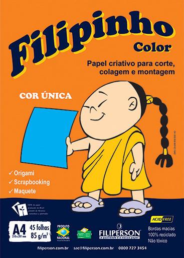 Filipinho Color / Cor Única (azul) A4 - FP03774