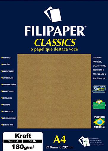 Filipaper Kraft 180g/m² (50 folhas; Natural) A4 - FP00942
