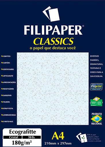 Filipaper Ecograffite 180g/m² (50 folhas; cristal) A4 - FRETE GRÁTIS - FP01013