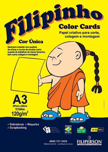 Filipinho Color Cards / Cor Única (amarelo) A3 - FP03779