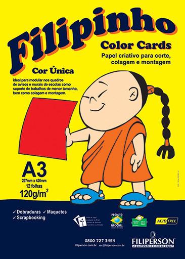 Filipinho Color Cards / Cor Única (vermelho) A3 - FP03783