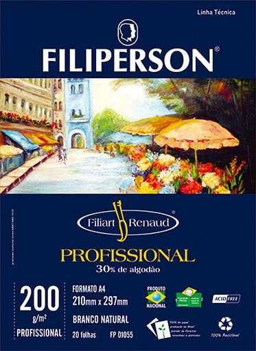 Filiart Renaud Profissional 200g/m² (20 folhas; branco) A4 - FRETE GRÁTIS - FP03789