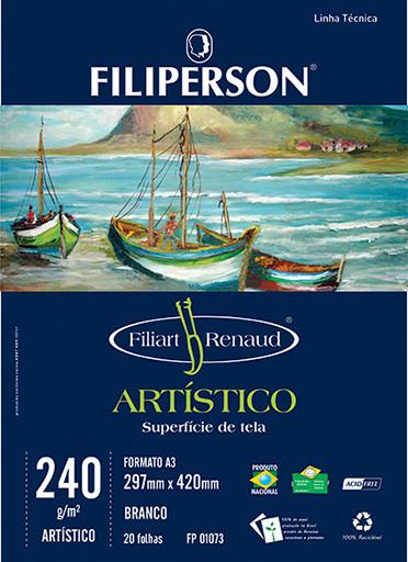Filiart Renaud Artístico 240g/m² (20 folhas; branco) A3 - FP03788