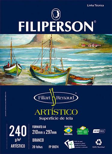 Filiart Renaud Artístico 240g/m² (20 folhas; branco) A4 - FP03787