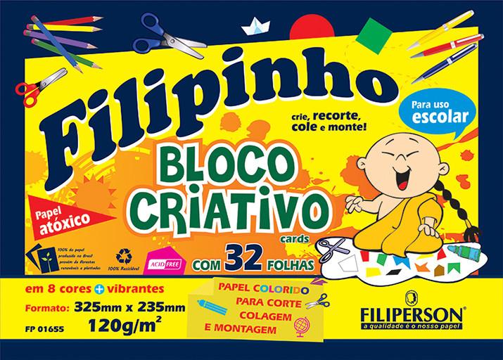 Filipinho Bloco Criativo 120g/m² (32,5cm x 23,5cm) 32 folhas - FP00679