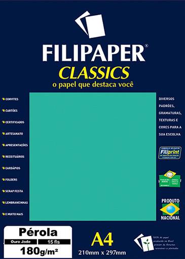 Filipaper CLASSICS PÉROLA Ouro Jade 180g/m² A4 15fls - FP01890