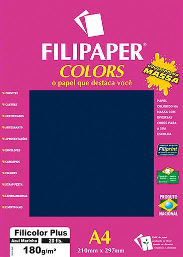 Filipaper COLORS Azul Marinho 180g/m² A4 20fls - FP02390