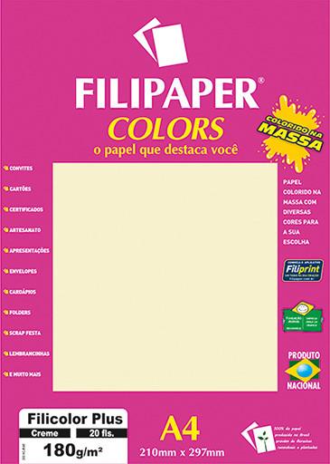 Filipaper COLORS Creme 180g/m² A4 20fls - FP02392