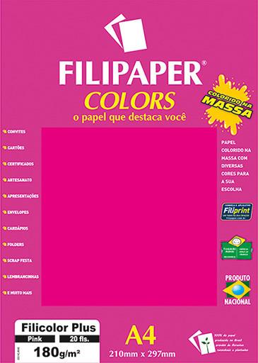 Filipaper COLORS Pink 180g/m² A4 20fls - FP02394