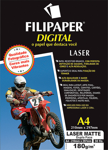 Filipaper Laser Matte Pro D/F 180g/m² A4 30fls. - FP02501