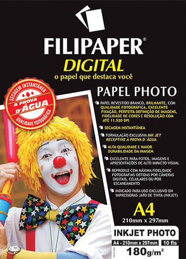 Filipaper Inkjet Photo Pro 180g/m² 10 fls. - FP02571