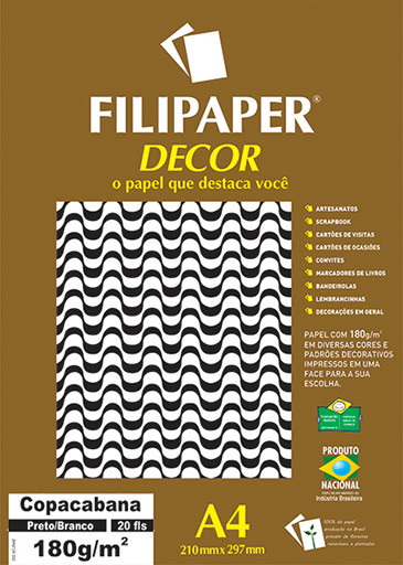 Filipaper DECOR Copacabana - 180g/m² A4 (20fls) - FP02719