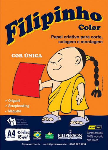 Filipinho Color / Cor Única (vermelho) A4 - FP03776
