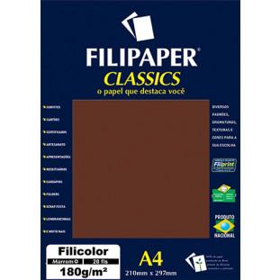 Filipaper Filicolor 180g/m² (20 folhas; marrom) A4 - FRETE GRÁTIS - FP00915