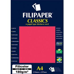 Filipaper Filicolor 180g/m² (20 folhas; pink) A4 - FRETE GRÁTIS - FP00917