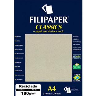 Filipaper Reciclado 180g/m² (50 Folhas, Natural) A4 - FRETE GRÁTIS - FP00940