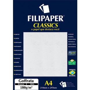 Filipaper Goffrata 180g/m² (50 folhas; branco) A4 - FP00951