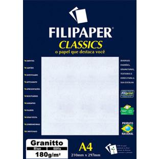 Filipaper Granitto 180g/m² (50 folhas; azul) A4 - FRETE GRÁTIS - FP00961