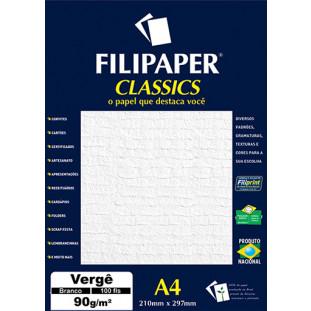 Filipaper Vergê 90g/m² (100 folhas; branco) A4 - FP00976