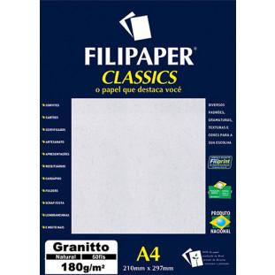 Filipaper Granitto 180g/m² (50 folhas; natural) A4 - FRETE GRÁTIS - FP00989