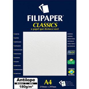Filipaper Antílope 180g/m² (50 folhas; branco) A4 - FP00993