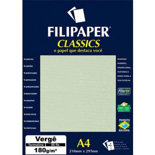 Filipaper Vergê 180g/m² (50 folhas; turmalina) A4 - FRETE GRÁTIS - FP00996