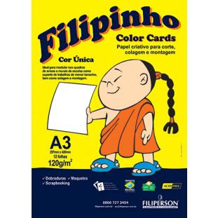 Filipinho Color Cards / Cor Única (branco) A3 - FRETE GRÁTIS - FP03781