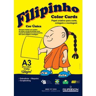 Filipinho Color Cards / Cor Única (amarelo) A3 - FRETE GRÁTIS - FP03779
