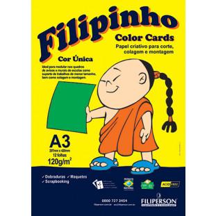 Filipinho Color Cards / Cor Única (verde) A3 - FRETE GRÁTIS - FP03782