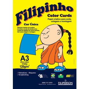 Filipinho Color Cards / Cor Única (azul) A3 - FRETE GRÁTIS - FP03780