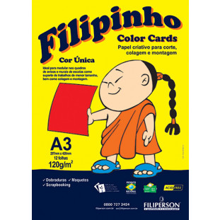 Filipinho Color Cards / Cor Única (vermelho) A3 - FRETE GRÁTIS - FP03783