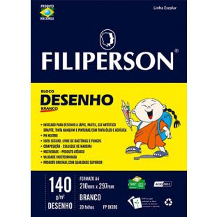 Bloco Filipinho Escolar Desenho Branco 140g/m² (A4) 20 folhas - FP00627
