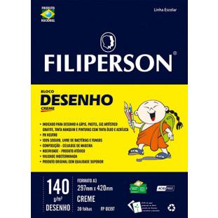 Bloco Filipinho Escolar Desenho Creme 140g/m² (A3) 20 folhas - FP00628