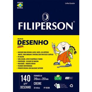 Bloco Filipinho Escolar Desenho Creme 140g/m² (A4) 20 folhas - FP00629