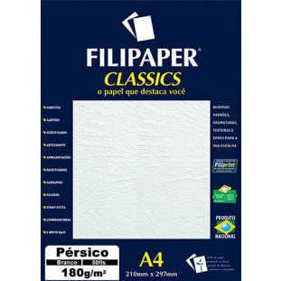 Filipaper Pérsico 180g/m² (50 folhas; branco) A4 - FP01423