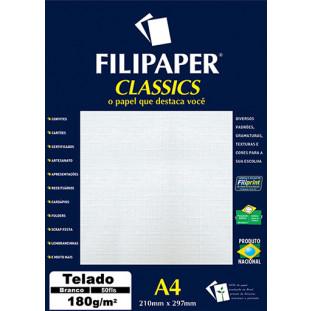 Filipaper Telado 180g/m² (50 folhas; branco) A4 - FP01615