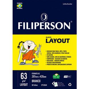 Bloco Filipinho Escolar Layout Branco 63g/m² (A3) 50 folhas - FP00632