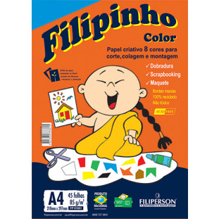 Filipinho Color 8 cores A4 - FP03772