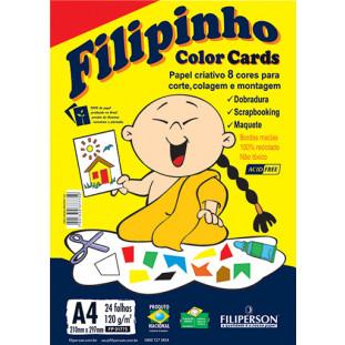 Filipinho Color Cards 8 cores A4 - FP03777