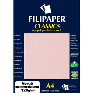 Filipaper Vergê 120g/m² (30 folhas; salmão) A4 - FRETE GRÁTIS - FP01877